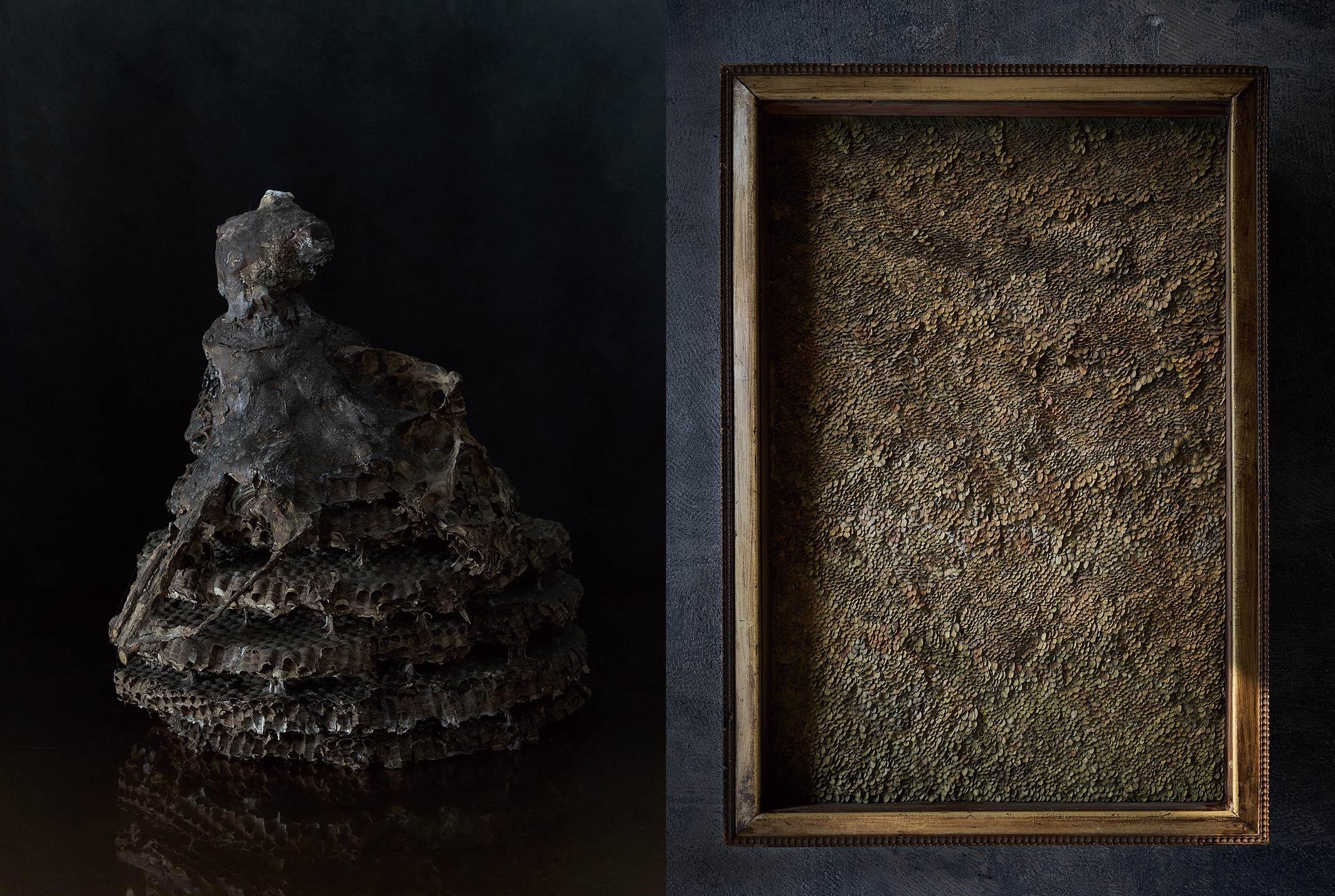 作品名:左「森の大精霊」右「森の信仰」